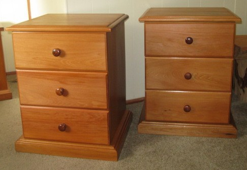 Recycled Rimu Bedside Drawers  made to match existing suite.