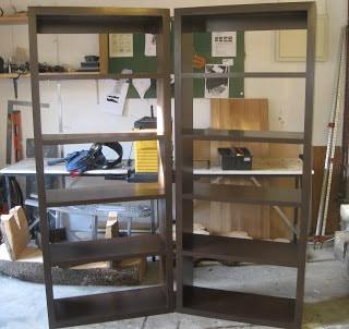 Vanished Plywood Bookshelves