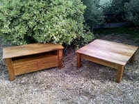 Recycled Rimu Entertainment Unit  and Coffee Table