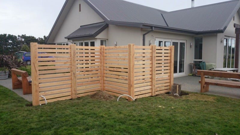 Macrocarpa Windbreak  Trellis