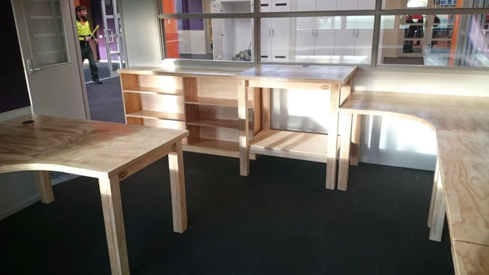 Plywood School Bookshelves