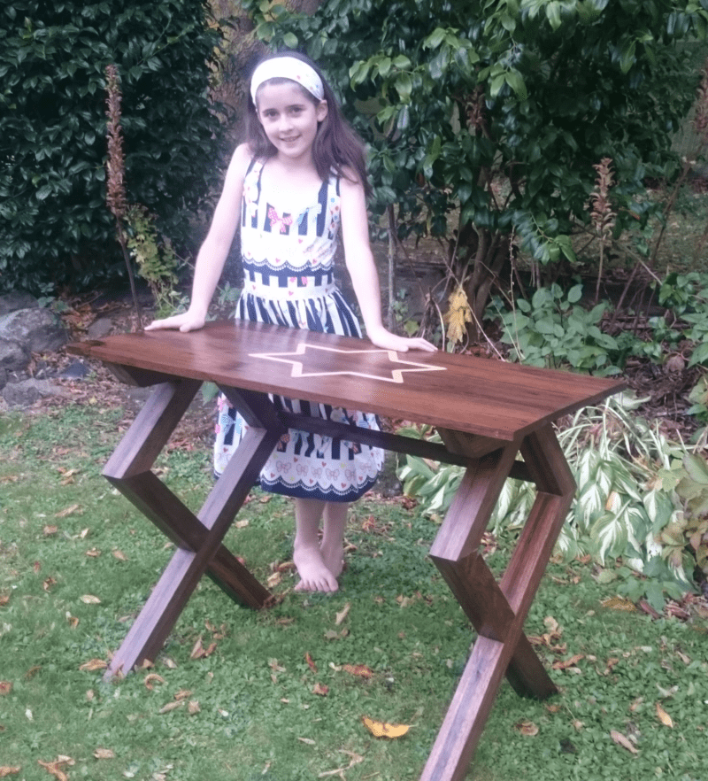 Sarah designed and made her walnut desk.