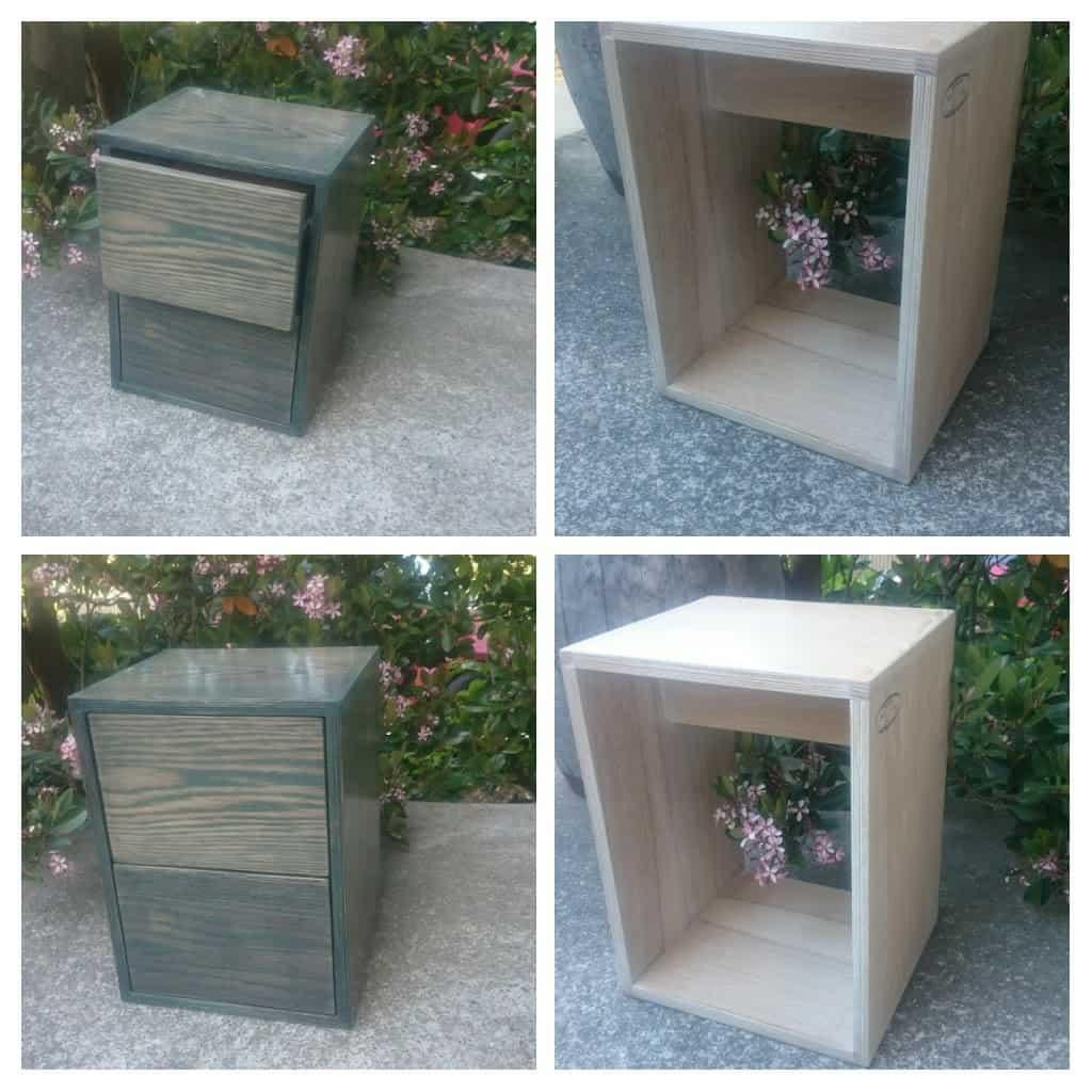 Side tables made from oak/birch