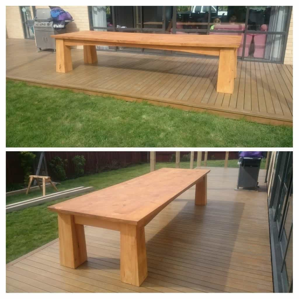 Large macrocarpa table 3.6m x1.2m