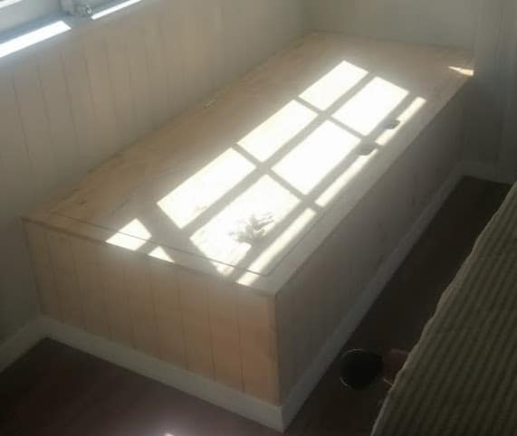 Built-in Storage Seat