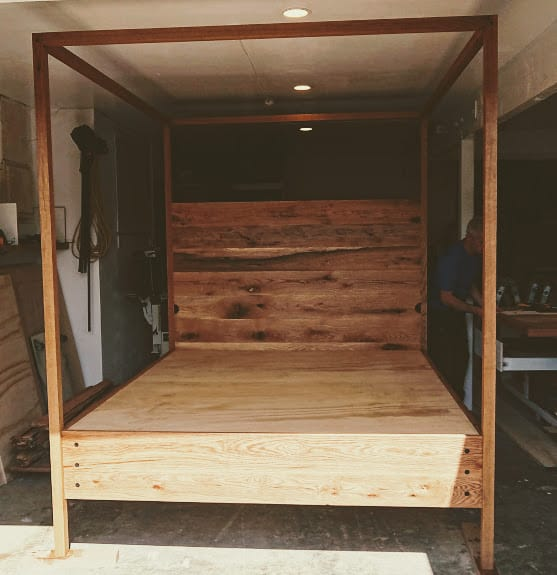 Super King Rustic Oak Bed