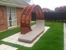 Kwila Double Seater Spiral Deckchair CUSTOM ORDER