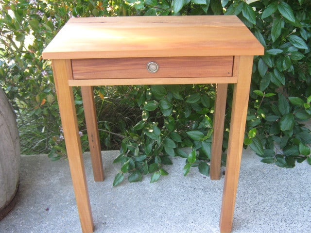 Small Recycled Rimu Table