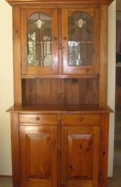 Restored Pine Kitchen Wall Unit
