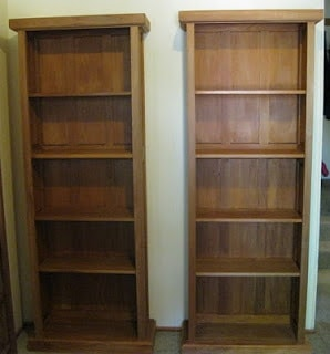 Twin Recycled Rimu Bookcases