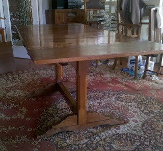 Restored Oak Dining Table