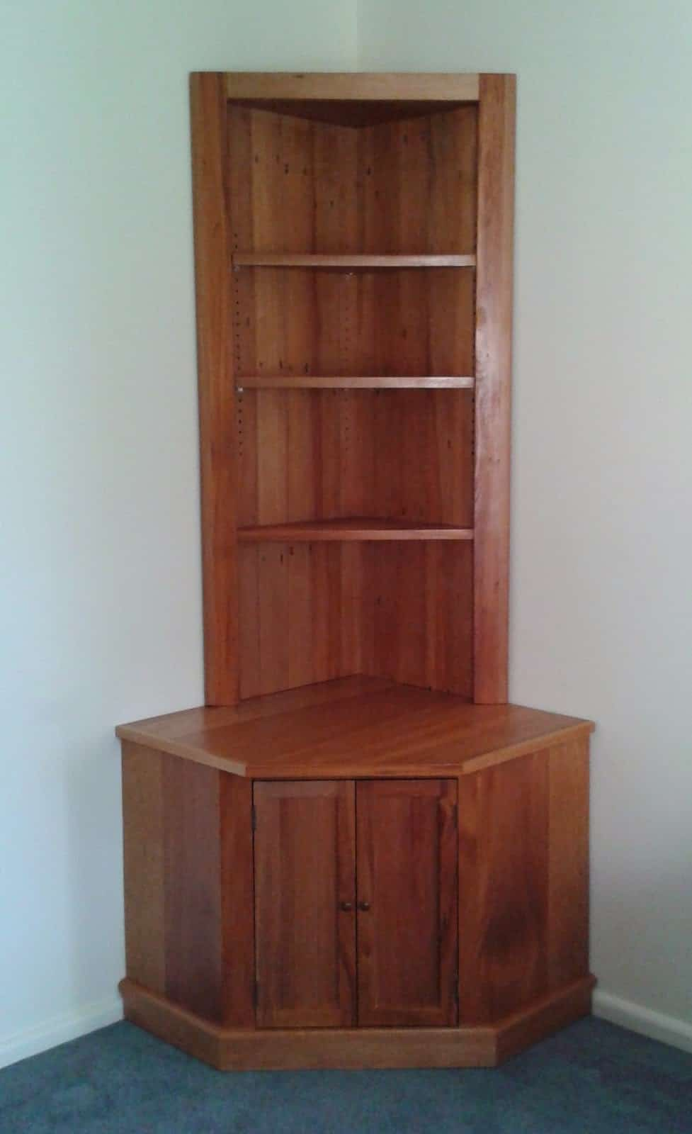 Recycled Rimu Corner Cabinet