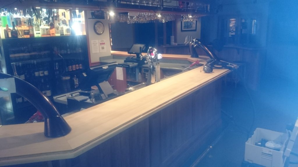 Bridge Restaurant and Bar Restoration in Process
