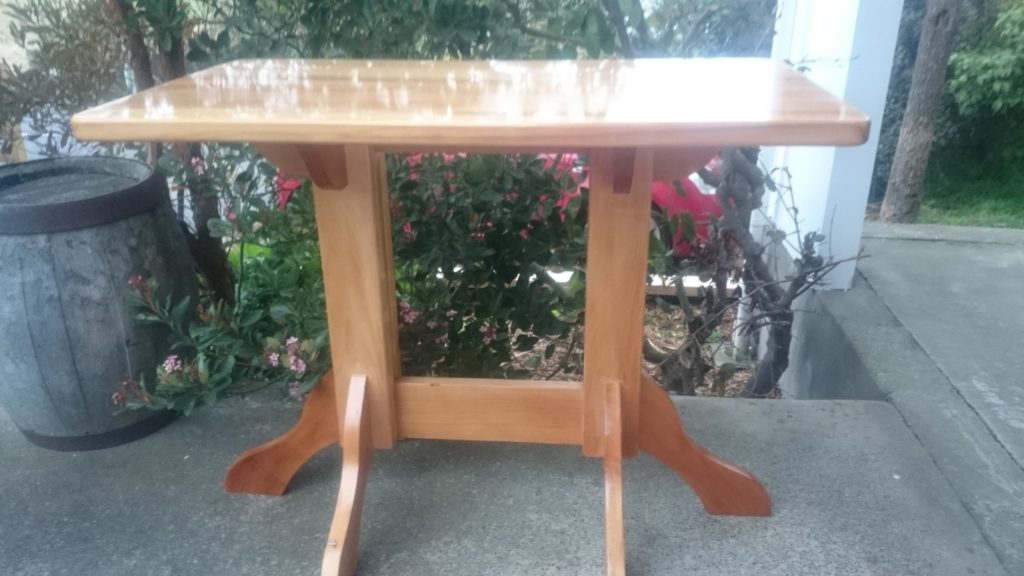The Bridge Restaurant and Bar's Recycled Rimu Bar Table