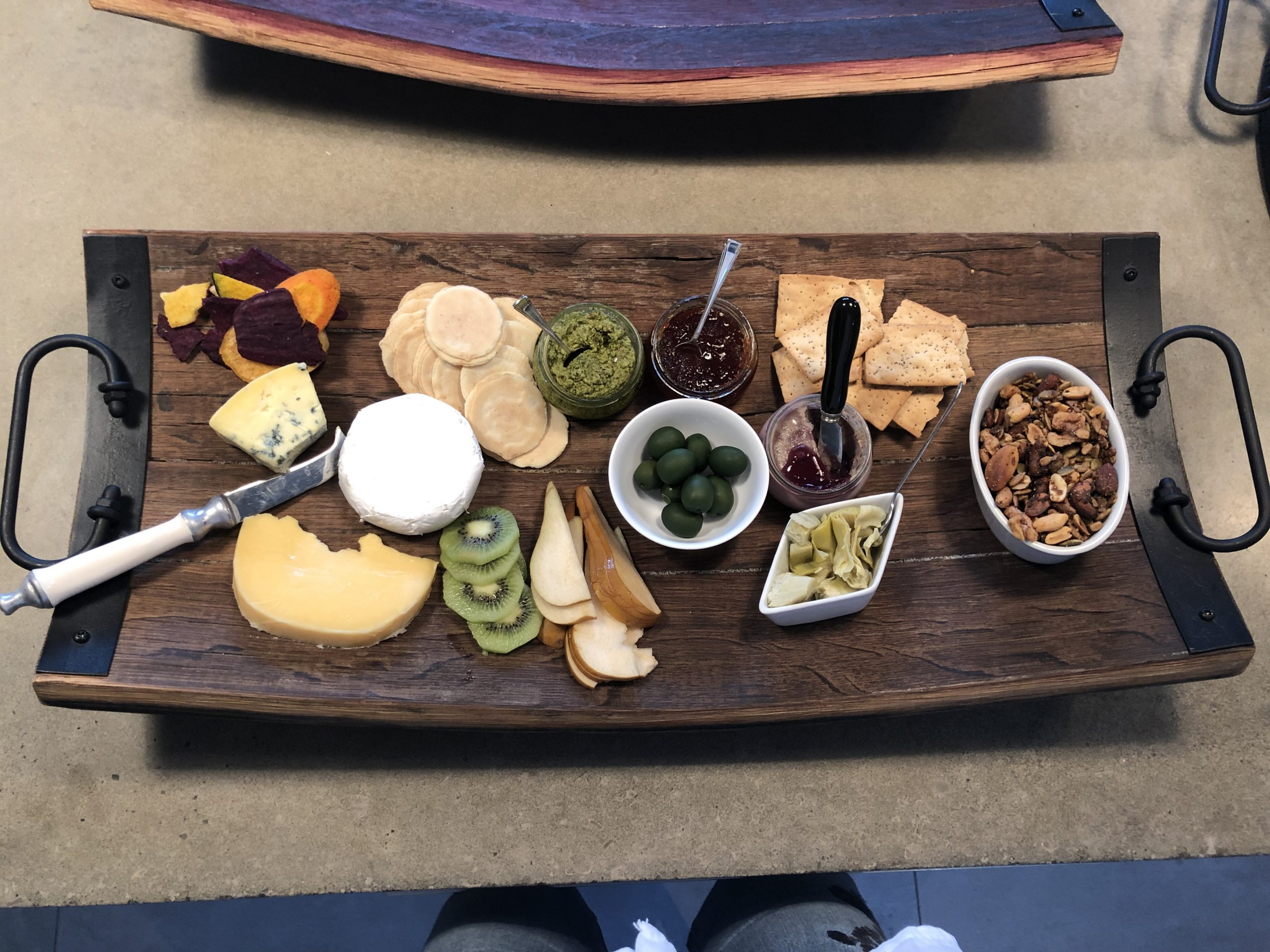 Rectangular Platters Made from Recycled Wine Barrels