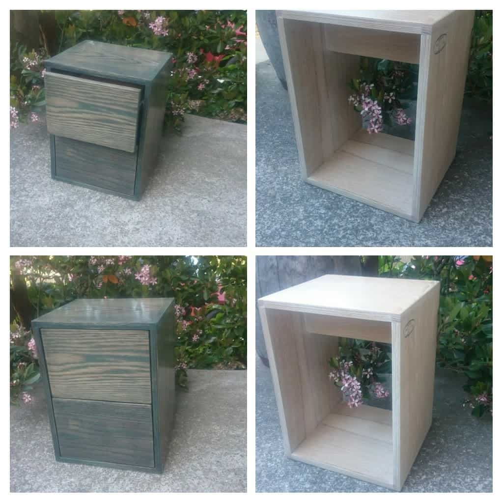 Side tables made from oak/birch