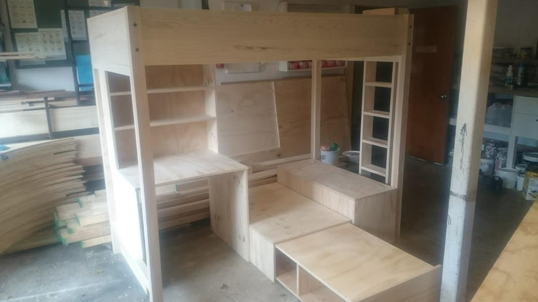 Bunk with Desk and Slide Out Bed CUSTOM ORDER