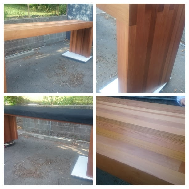 Cedar BBQ Table with Cover CUSTOM ORDER