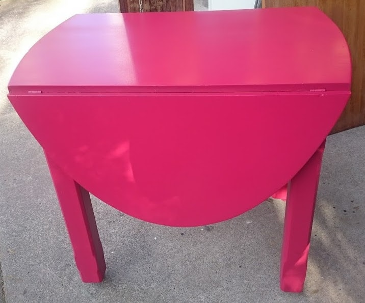Upcycled Pink Table
