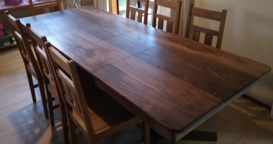 Walnut Dining Table UPCYCLED