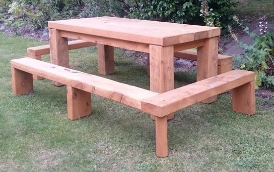 Macrocarpa BBQ table