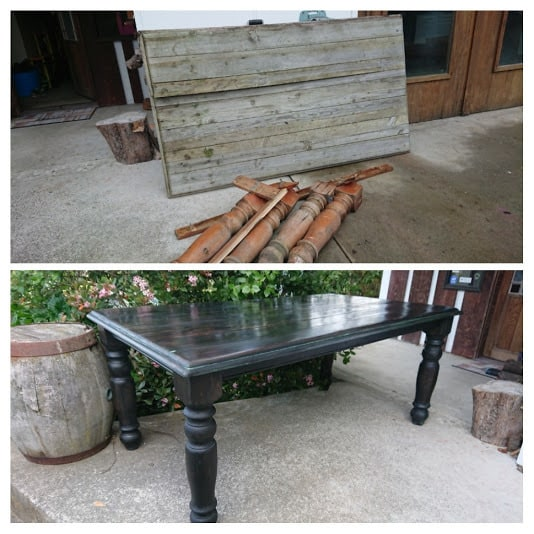 Table left outside for a few years