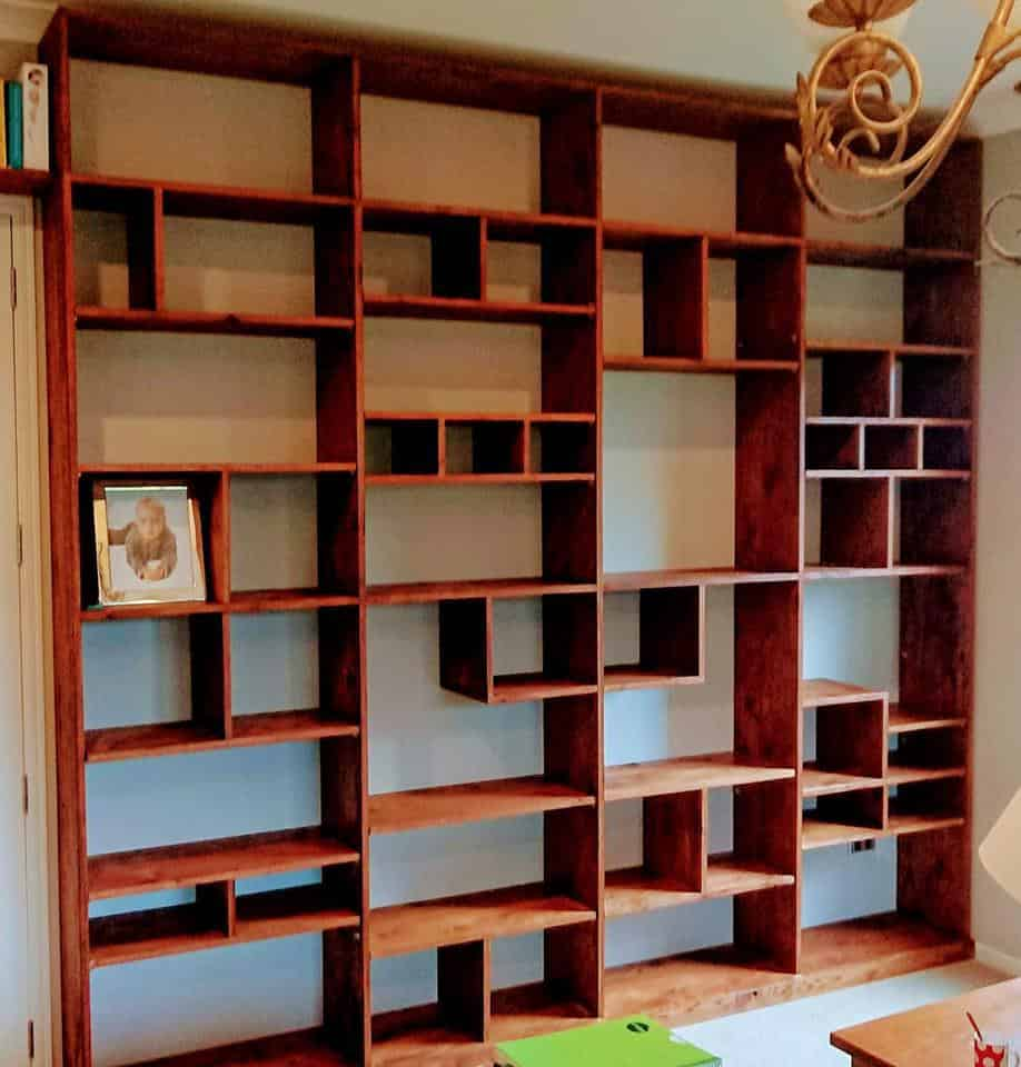 Rustic Oak Bookcase