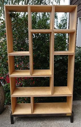 Bookcase with interchangeable shelves CUSTOM ORDER