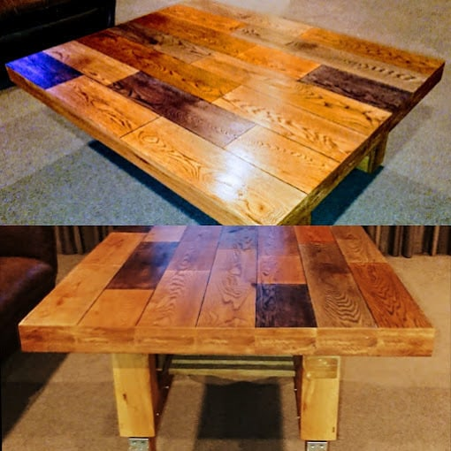 Custom Made Coffee Table that transforms into a dining Table CUSTOM ORDER