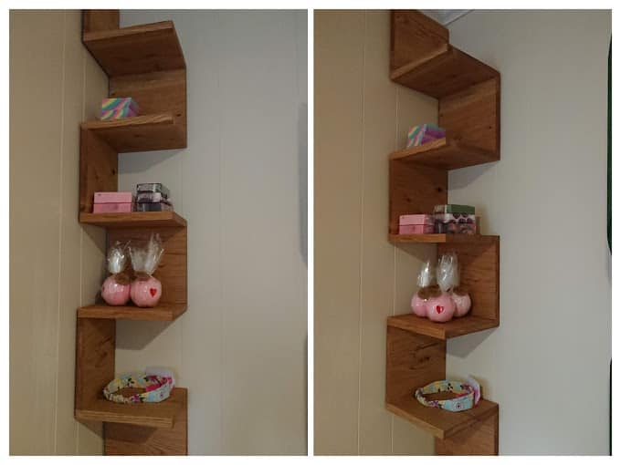 Solid Rustic Oak Bookshelf  FOR SALE