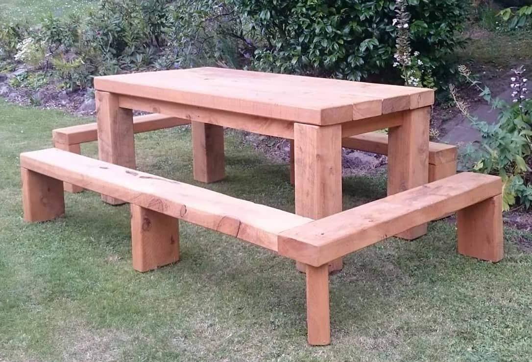Macrocarpa Barbecue Table
