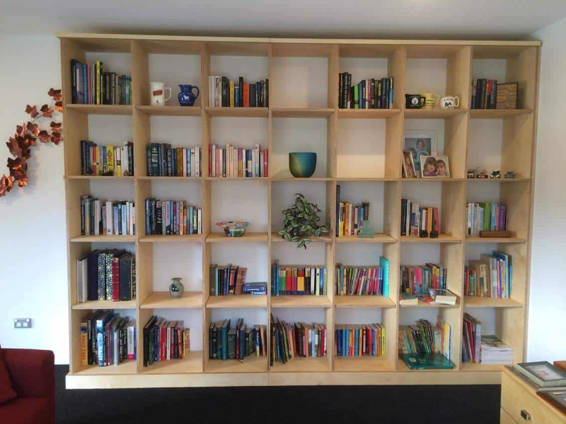 Large plywood cubed bookcase CUSTOM ORDER