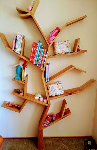 """The Faraway Tree Bookcase"" made of Solid Rustic Oak"