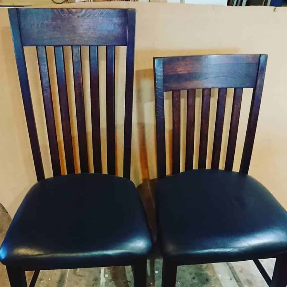 Clients wanted chairs shortened to suit a new home