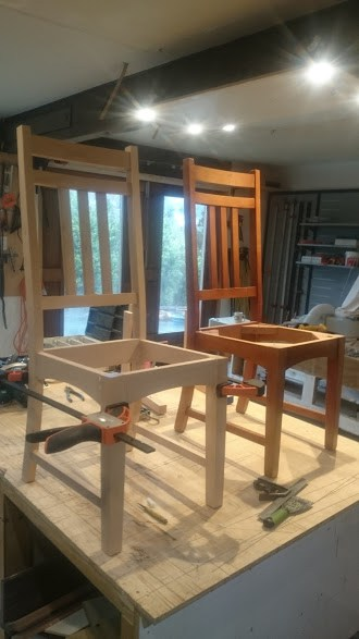 Chair being made to match an existing set