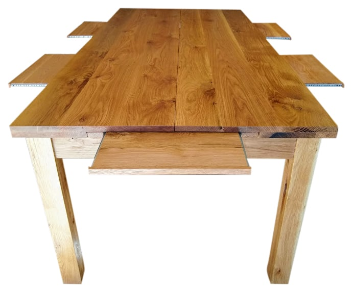 Oak Dining Table converted to Games Table (without middle extension)