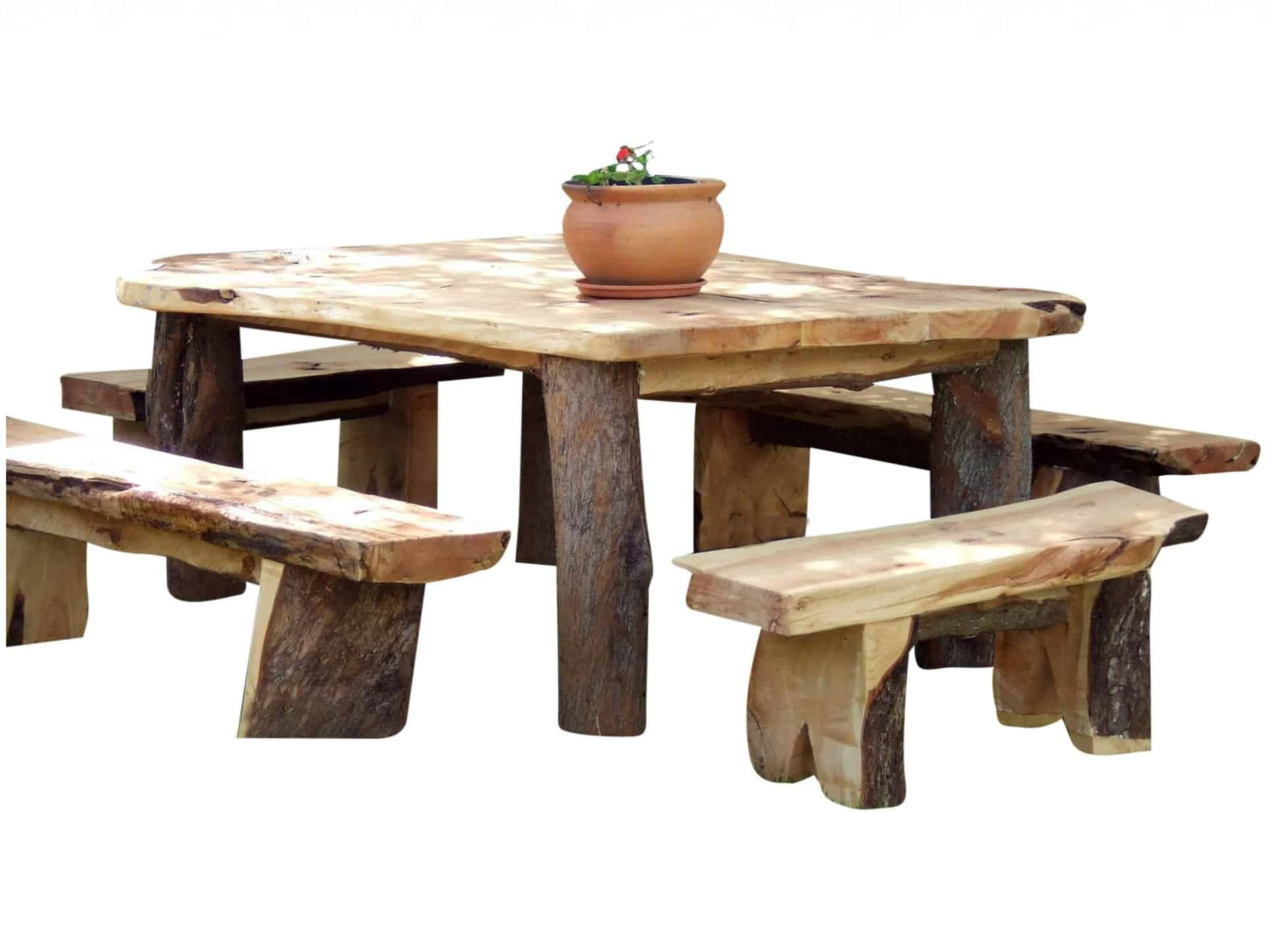 Very Rustic Outdoor Dining Set