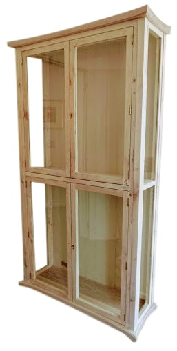 English Elm Display Cabinet