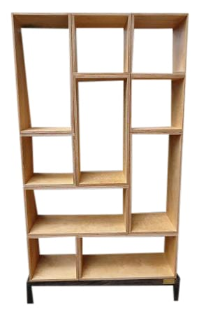 Birch Plywood Bookcase with Interchangeable Shelves