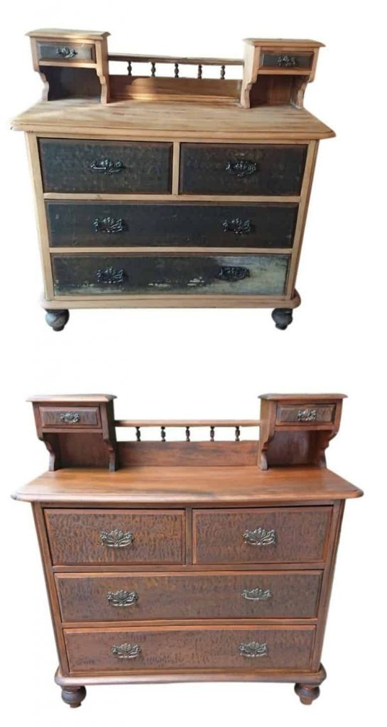 Kauri Dresser before and after