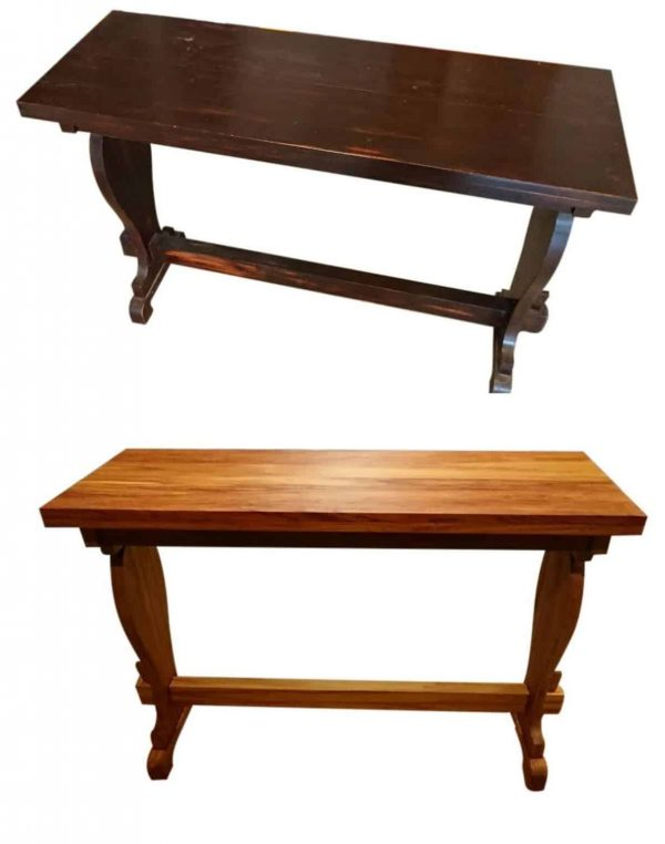 Rimu Hall Table Before & After