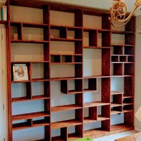 Rustic Oak Bookcase